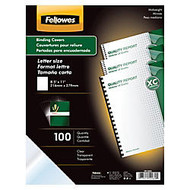 Fellowes; Clear Presentation Binding Covers, 8 1/2 inch; 11 inch;, Clear, Pack Of 100