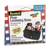 3M™ Self-Sealing Photo Laminating Sheets, 2 1/2 inch; x 3 1/2 inch;, Pack Of 5