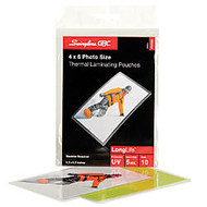 Swingline™ GBC; Thermal Laminating Pouches, 5 Mils, Photo, 4 1/2 inch; x 6 1/2 inch;, Pack Of 10