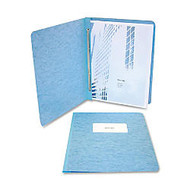 ACCO; Pressboard Binder With Fastener, Side Bound, 11 inch; x 8 1/2 inch;, 60% Recycled, Light Blue