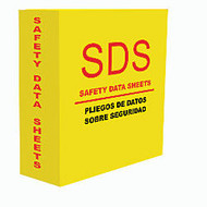 Aurora GB MSDS Binder, 3 inch; Rings, 39% Recycled, 500-Sheet Capacity, Safety Yellow