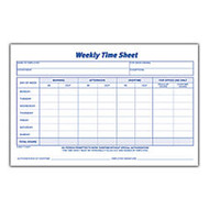 Adams™ Weekly Time Sheets, 8 1/2 inch; x 5 1/2 inch;, White, 100 Sheets Per Pad, Pack Of 2 Pads