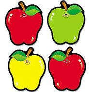 Carson-Dellosa Apple Cut-Outs - 36 Apple - 4.50 inch; Width x 5.50 inch; Length - Assorted - 1 Set