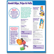 ComplyRight Avoid Slips, Trips And Falls Poster, English, 18 inch; x 24 inch;