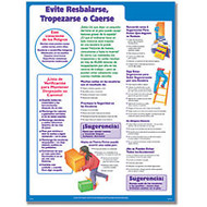 ComplyRight Avoid Slips, Trips And Falls Poster, Spanish, 18 inch; x 24 inch;