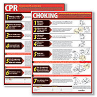 ComplyRight CPR And Choking Poster Bundle, English, 18 inch; x 24 inch;