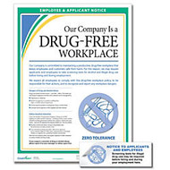 ComplyRight Drug-Free Workplace Poster And Sticker Bundle, English
