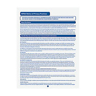 ComplyRight HIPAA Notice Of Privacy Practices Forms, 8 1/2 inch; x 11 inch;, Pack Of 100
