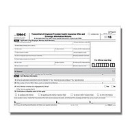 ComplyRight 1094-C Inkjet/Laser Tax Forms, Transmittal of Employee-Provided Health Insurance Offer And Coverage Information Returns, 8 1/2 inch; x 11 inch;, White, Pack Of 50 Forms