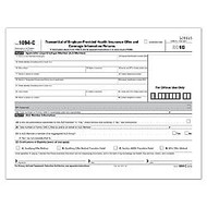 ComplyRight 1094-C Inkjet/Laser Tax Forms, Transmittal of Employee-Provided Health Insurance Offer And Coverage Information Returns, 8 1/2 inch; x 11 inch;, White, Pack Of 500 Forms