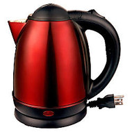Brentwood 1.7 Liter Stainless Steel Tea Kettle Red