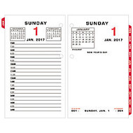 AT-A-GLANCE; 2-Color Desk Calendar Refill, 3 1/2 inch; x 6 inch;, January to December 2017