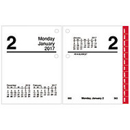 AT-A-GLANCE; 30% Recycled Compact Desk Calendar Refill, 3 inch; x 3 3/4 inch;, January to December 2017