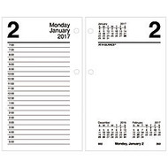 AT-A-GLANCE; Desk Calendar Refill, 3 1/2 inch; x 6 inch;, 30% Recycled, January-December 2017