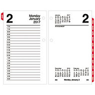 AT-A-GLANCE; Desk Calendar Refill, 3 1/2 inch; x 6 inch;, Tabbed, January-December 2017