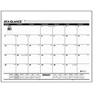 AT-A-GLANCE; Desk Pad Refill, 22 inch; x 17 inch;, 30% Recycled, White, January-December 2017