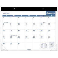 AT-A-GLANCE Easy-To-Read Monthly Desk Pad Calendar, 22 inch; x 17 inch;, 30% Recycled, January-December 2017