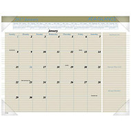 AT-A-GLANCE Executive Desk Pad Calendar, 22 inch; x 17 inch;, 30% Recycled, January–December 2017