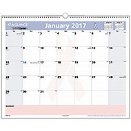 AT-A-GLANCE QuickNotes 30% Recycled Special Edition Breast Cancer Awareness Desk/Wall Calendar, 15 inch; x 12 inch;, January-December 2017