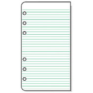 Day-Timer; Organizer Accessory, Lined Pages, 3 3/4 inch; x 6 3/4 inch;, Pack Of 2