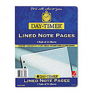Day-Timer; Organizer Accessory, Lined Pages, 8 1/2 inch; x 11 inch;, Pack Of 2