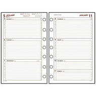 Day Runner Express Planning Pages, 5 1/2 inch; x 8 1/2 inch;, 2 Pages Per Week, 60% Recycled, January–December 2017
