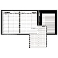 AT-A-GLANCE 13-Month Weekly Appointment Book Plus, 8 1/4 inch; x 10 7/8 inch;, Black, January 2017-January 2018