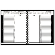 AT-A-GLANCE 30% Recycled 24-Hour Daily Appointment Book, 8 1/2 inch; x 11 inch;, Black, January-December 2017