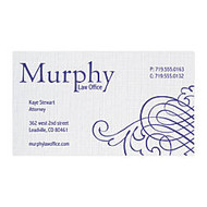 1-Color Spot Raised Ink Linen Business Cards, 3 1/2 inch; x 2 inch;, 80 Lb, Bright White, Pack Of 250