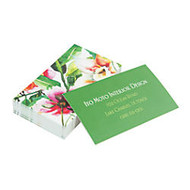 Taylor Soft Touch Full-Color Laminate Business Cards, 2 inch; x 3 1/2 inch;, 4/4, White, Box Of 250