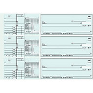 3-To-A-Page Checks, Style 41, 8 1/4 inch; x 3 1/24 inch;, 2 Parts, Box Of 300