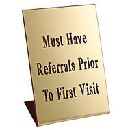 Acrylic Engraved L-Shaped Sign, Pedestal, 6 inch; x 4 inch;