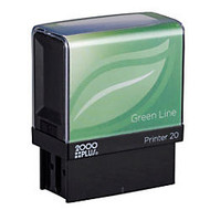 2000 PLUS; Green Line; Self-Inking Stamp, P20GL, 80% Recycled, 1/2 inch; x 1 7/16 inch; Impression