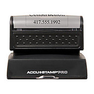 ACCU-STAMP; 50% Recycled PRO Pre-Inked Stamp With Microban;, 1 1/2 inch; x 2 7/16 inch; Impression