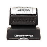 ACCU-STAMP; 50% Recycled PRO Pre-Inked Stamp With Microban;, 1 3/16 inch; x 2 inch; Impression