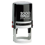 2000 PLUS; Self-Inking Notary Stamp With Microban;, R50 Round, 1 15/16 inch; Diameter Impression