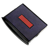 2000 PLUS; 2-Color Self-inking Dater Replacement Pad, Red/Blue, 1 1/4 inch; x 1 13/16 inch; Impression