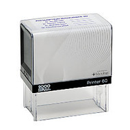 2000 PLUS; P60 Self-Inking Stamp With Microban;, 1 3/8 inch; x 2 15/16 inch; Impression