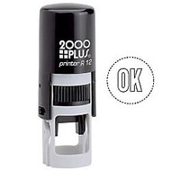 2000 PLUS; R12 Self-Inking Round Stamp With Microban;, 3/8 inch; Diameter Impression