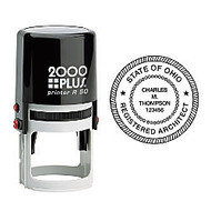 2000 PLUS; R50 Self-Inking Round Stamp With Microban;, 1 15/16 inch; Diameter Impression