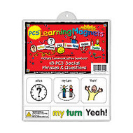 Barker Creek; Magnets, Learning Magnets; PCS;, Social Phrases & Questions Set, Grades Pre-K+, Pack Of 90