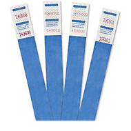 Advantus 500-Pack Tyvek Colored Wrist Bands - 0.75 inch; Width x 10 inch; Length - Rectangle - Blue - Tyvek - 500 / Pack