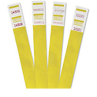 Advantus 500-Pack Tyvek Colored Wrist Bands - 0.75 inch; Width x 10 inch; Length - Rectangle - Yellow - Tyvek - 500 / Pack