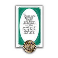 1 Year Of Service Lapel Pin, 5/8 inch;, Antique Gold