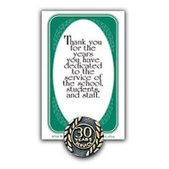 30 Years Of Service Lapel Pin, 5/8 inch;, Antique Gold