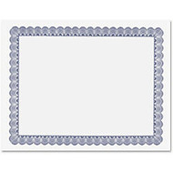 Geographics Conventional Blue Certificate - 11 inch; x 8.50 inch; - Inkjet, Laser Compatible - Blue