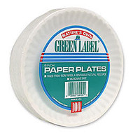 AJM Green Label 6 inch; Paper Plates, White, Box Of 1,000