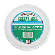 AJM Plates, 9 inch;, White, 100 Per Pack, 12 Packs Per Carton