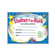 Trend Student of The Week Certificate - 8.50 inch; x 11 inch;