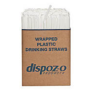 Dispozo Flex Straws, 7 3/4 inch;, Translucent, 400 Straws Per Pack, Case Of 4 Packs